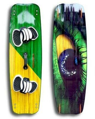 Standard 1.0 kiteboard - Vivid custom graphics - Wood core - Triaxial fiberglass construction