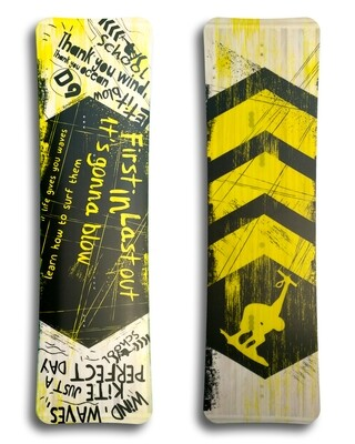 School - Light wind kiteboard - Vivid custom graphics - Wood core