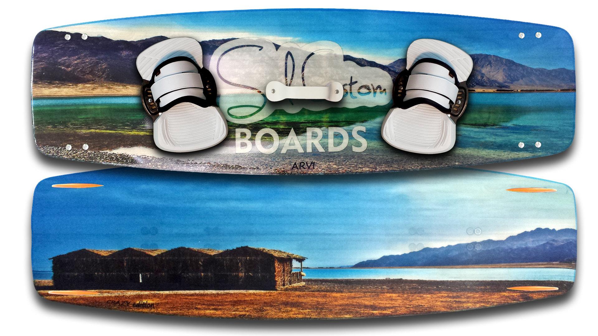 JustGo kiteboard - vivid custom graphics - Biaxial fiberglass construction 00002