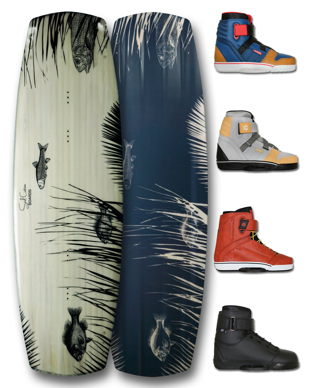 Wakeboard PRO or Crossover with custom graphics and Humanoid Boots 00011