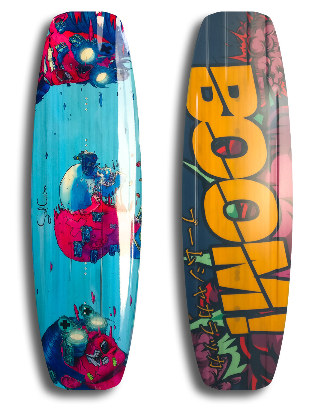 Rocket 2.0 PRO wakeboard - Vivid custom graphics - Wood core - Triaxial fiberglass construction