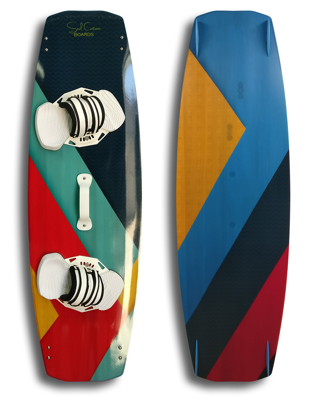 Standard 2.0 kiteboard - Vivid custom graphics - Wood core - Triaxial fiberglass construction 00016
