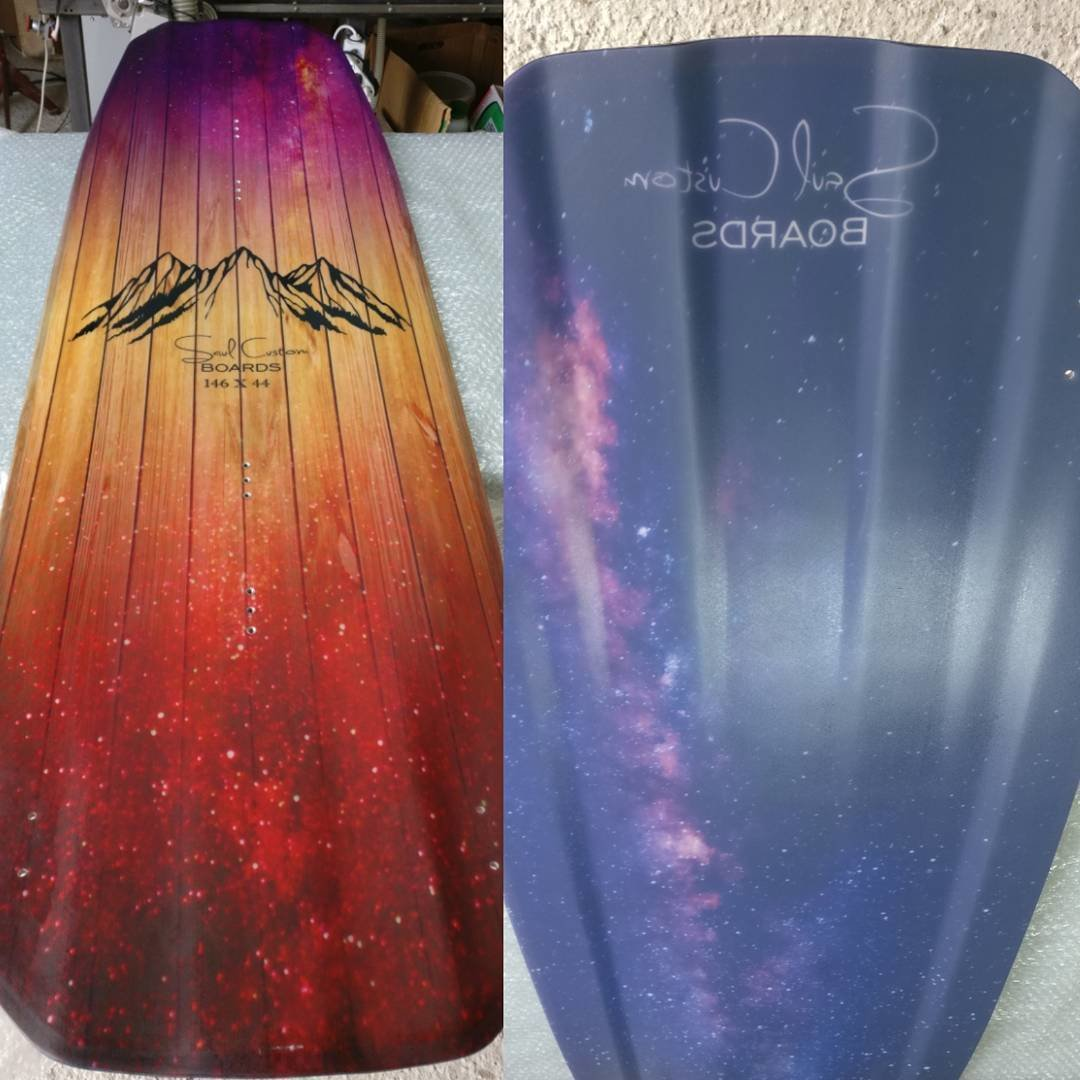 Crossover wakeboard - Vivid custom graphics - Wood core - Triaxial fiberglass construction
