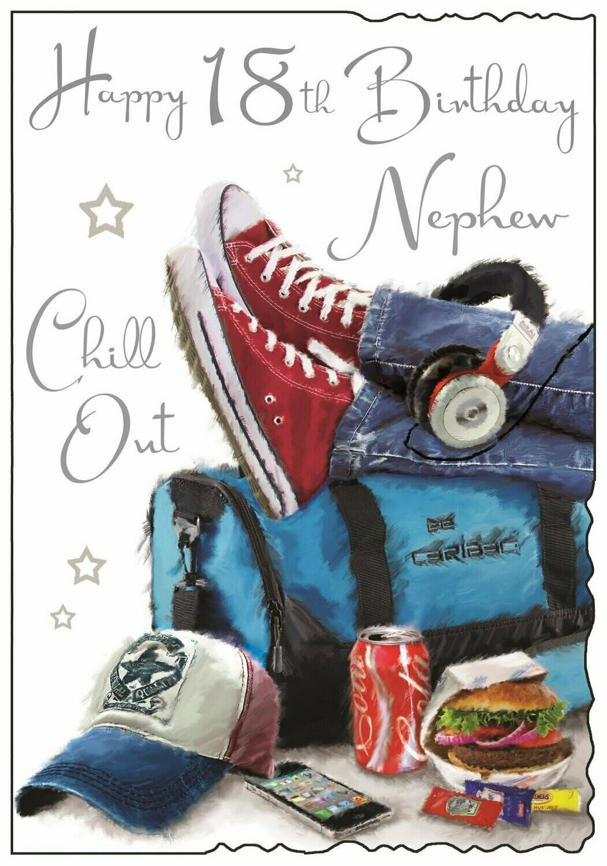 Incredible Nephew Age 18 Birthday Card Personalised Birthday Cards Veneteletsinfo