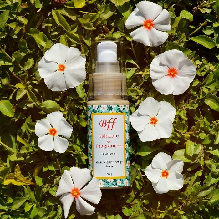 Sensitive Skin Therapy Face Serum, with Acai Berry & Apricot Kernel Oil for Daily Nourishment & Care. 50 Milliliters.