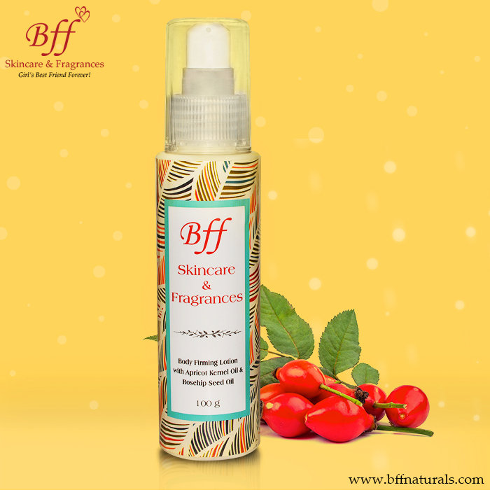 Body Firming Lotion with Apricot Kernel & Rosehip Seed Oil, For Skin Tightening & Hydration.  100 Millilieters