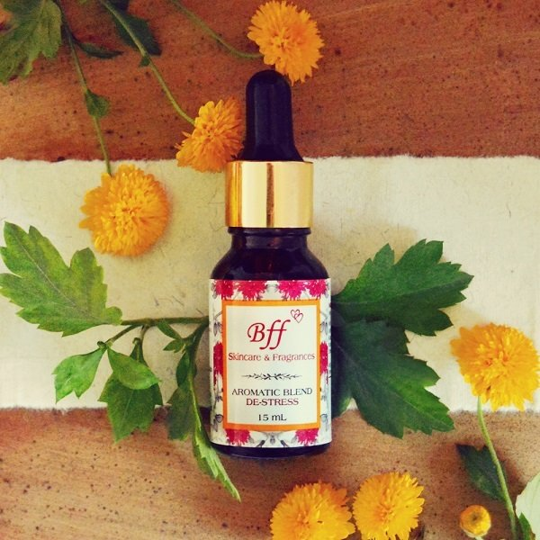 De-Stress Aromatherapy Essential oil Blend, to Calm & Soothe the senses. 15 Milliliters.