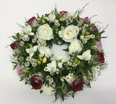 Wreath Ring - Pastel, Loose Foliage