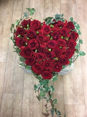 Stunning Red Rose Heart