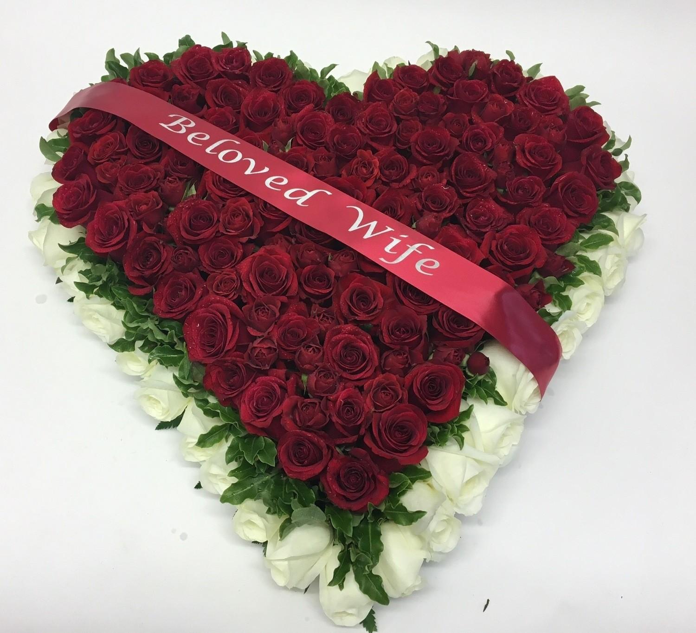 Elegant Red Rose Heart