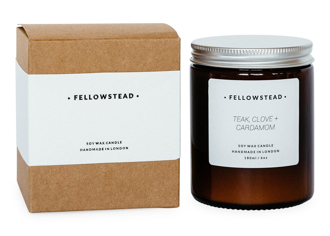 Fellowstead Botanical Candle - Teak, Clove + Cardamom