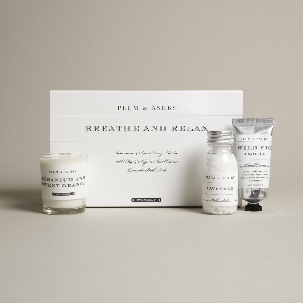 Plum & Ashby Gift Set 'Breathe & Relax'