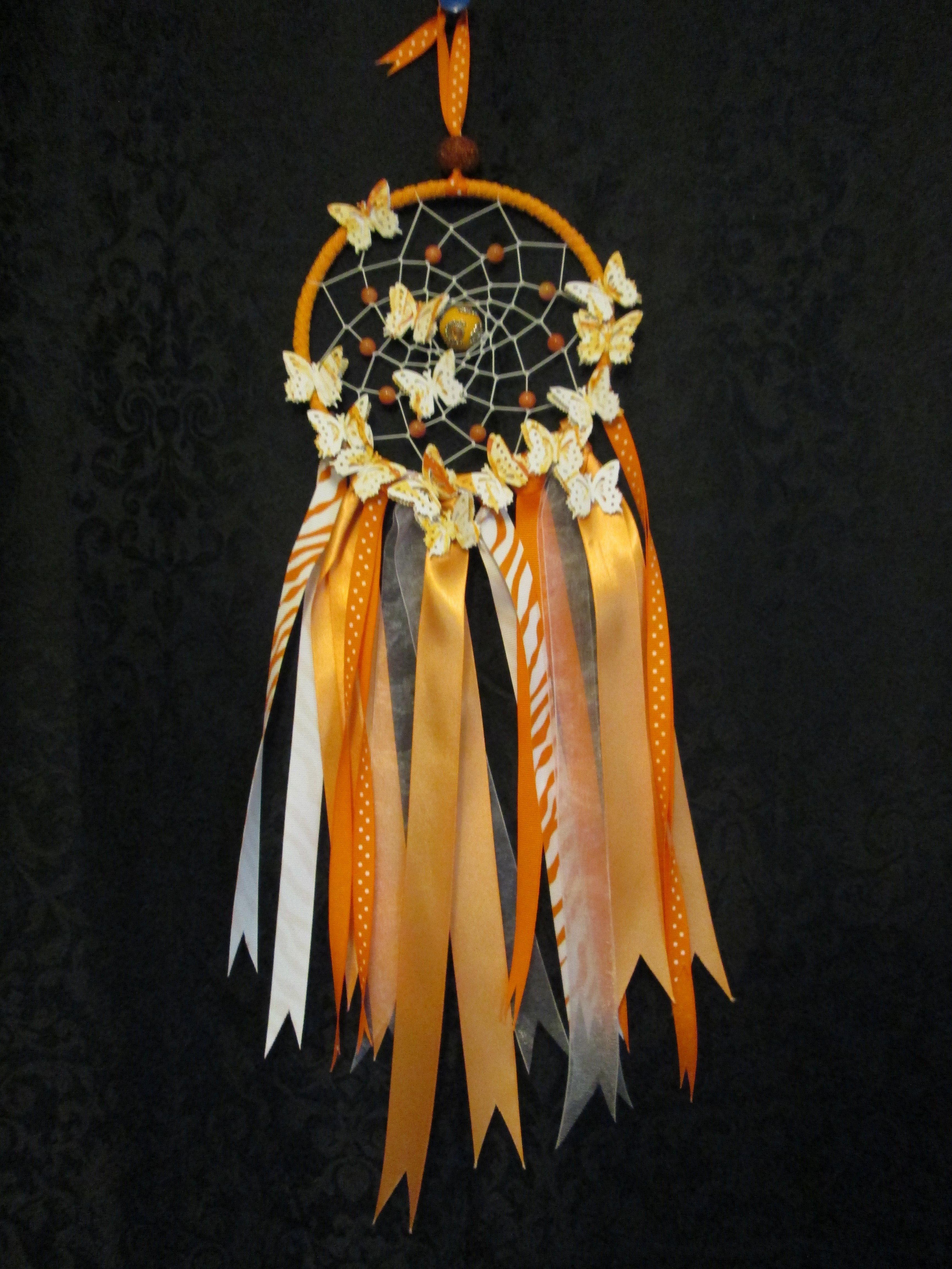 Orange Dreamcatcher Medium 002dc