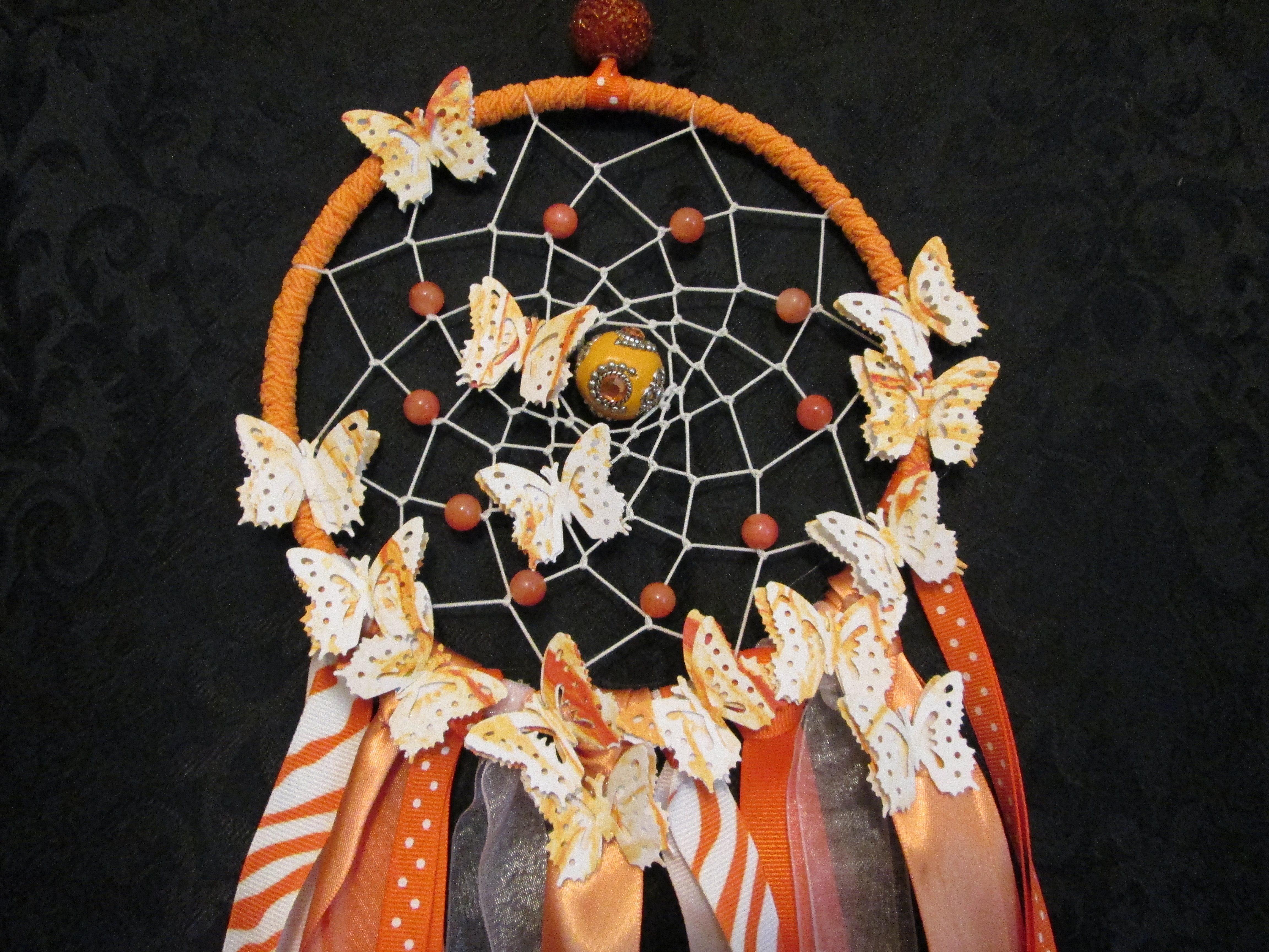 Orange Dreamcatcher Medium