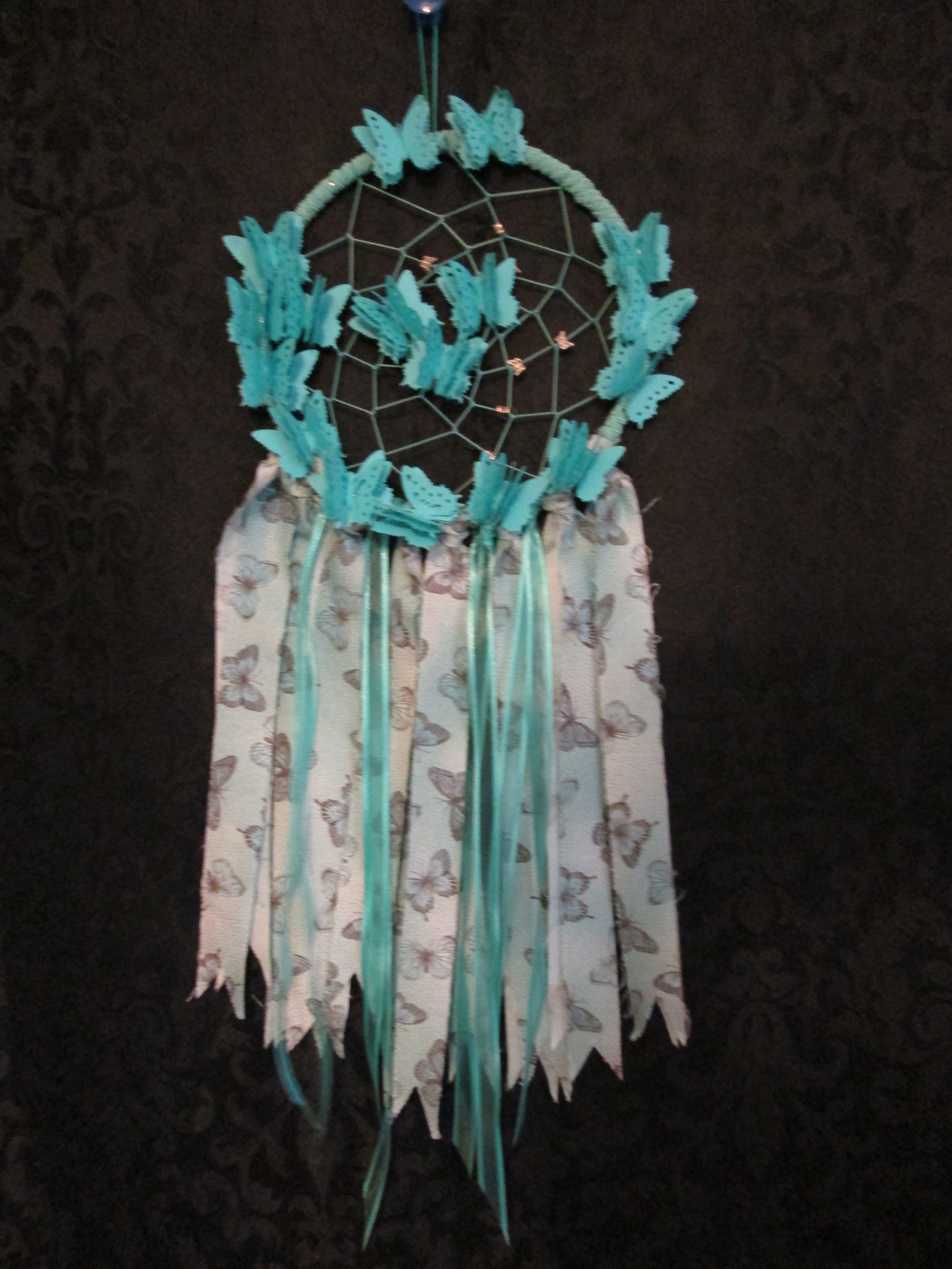 Turquoise Dreamcatcher Small 004dc