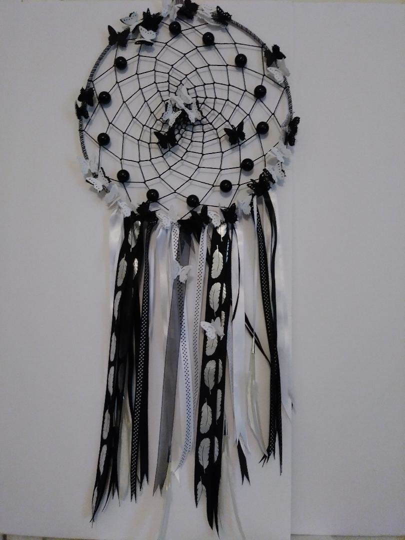 Black & White Dreamcatcher - Large 010dc