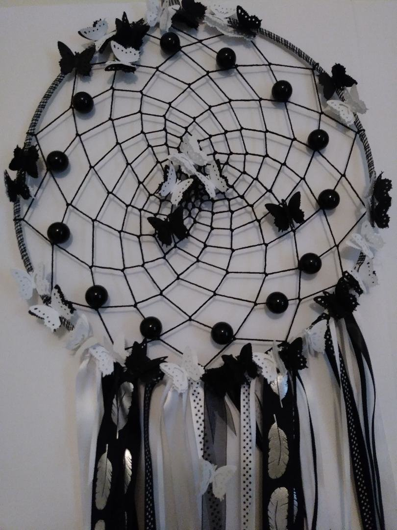 Black & White Dreamcatcher - Large