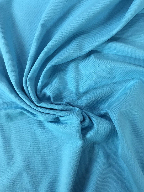 dea9075a8d3 Turquoise Plain Jersey Fabric
