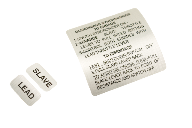 Synchronizer Operation Instructions (decal) 35901 SYNC LABEL
