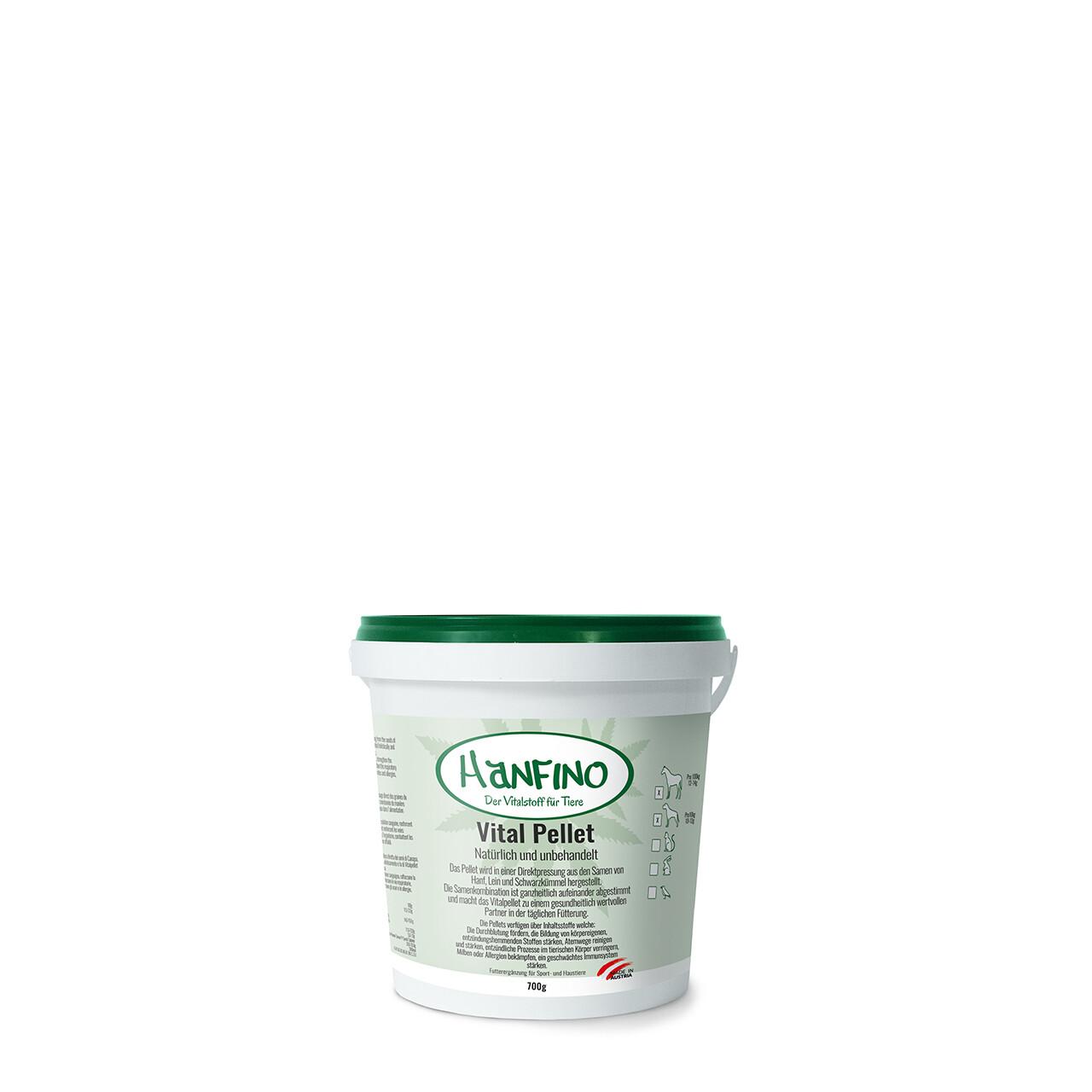 Hanfino Premium Vitalpellets /Feinschrot/Öl