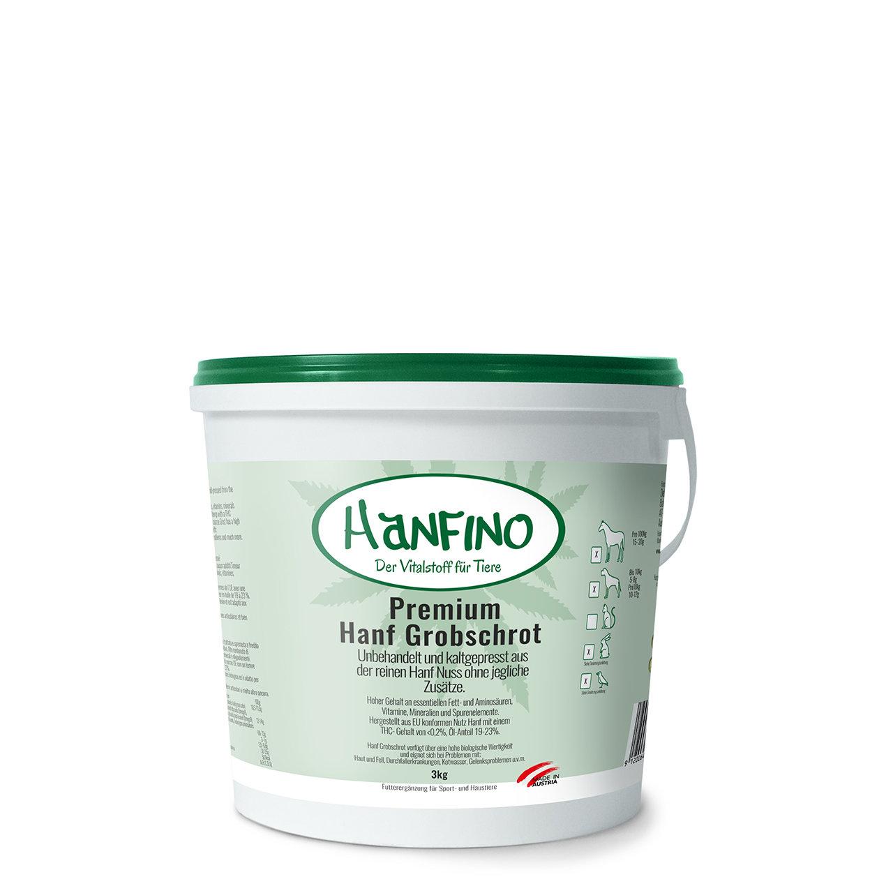 Hanfino Premium Hanfsamen Presskuchen Schrot