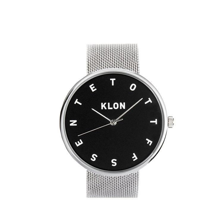 KLON ALPHABET TIME THE WATCH -MESH BELT-【BLACK SURFACE】