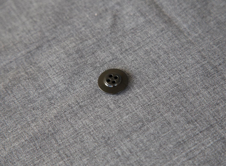 Knap, sort plast, 20 mm
