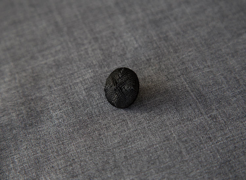 Knap, possement, stor (22 mm)