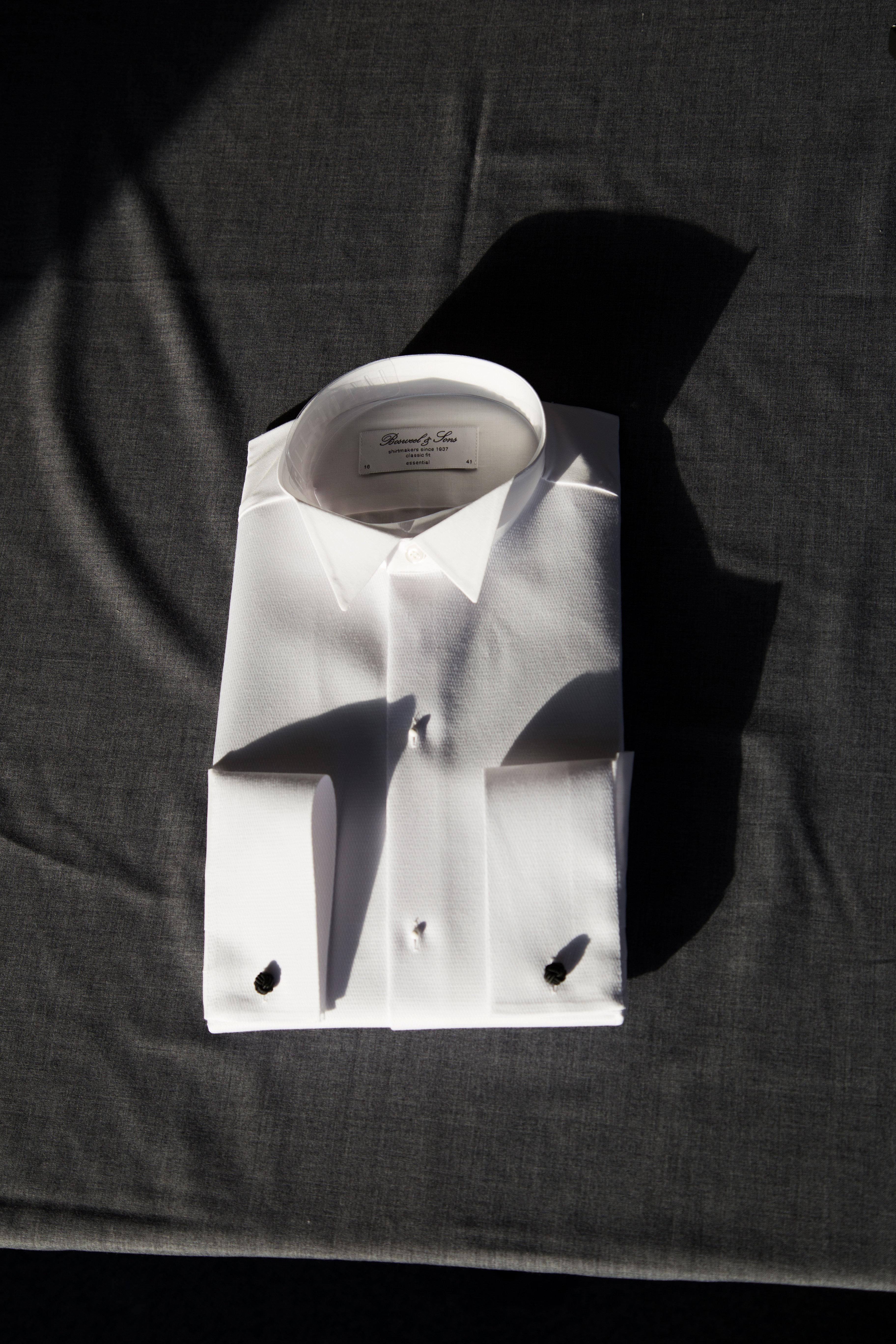 Kjoleskjorte, piqué, med knækflip 00026-SP-3070710