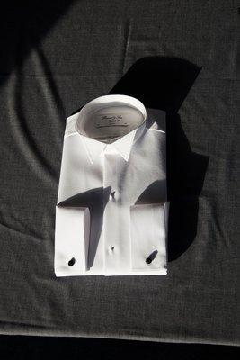 Kjoleskjorte, piqué, med knækflip