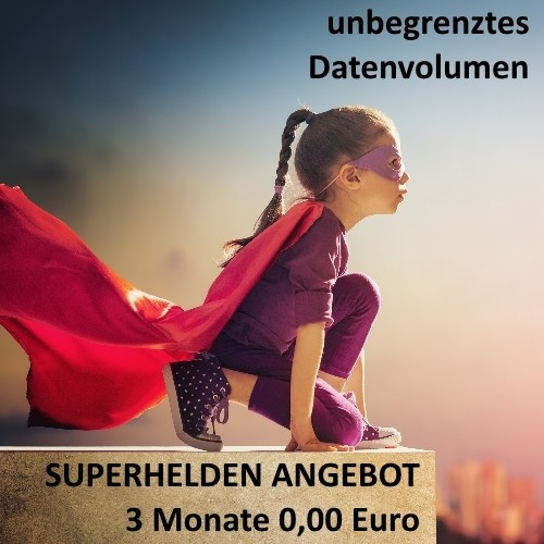 SUPERHELDEN ANGEBOT 3 Monate 0,00€
