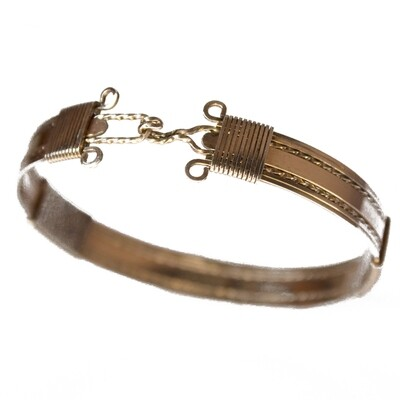 Circa 1945 Gold Plated Bangle