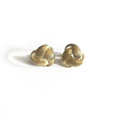 ​Circa 1960 Gold Earrings