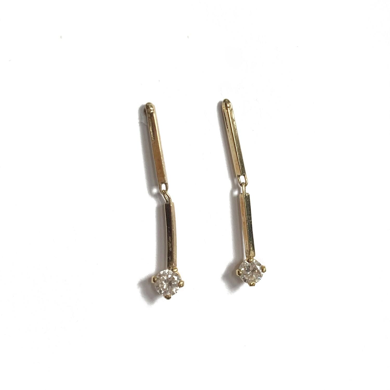 Circa 1970 Diamond Drop Earrings