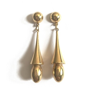 Circa 1950 Torpedo Drop Earrings​