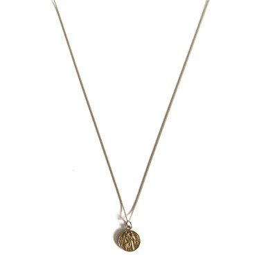 Circa 1970 Gold St Christopher Necklace
