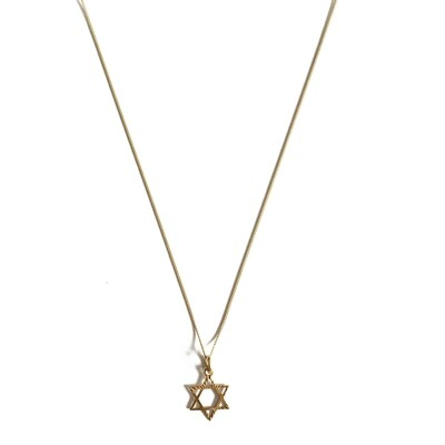 Circa 1970 Gold Star Of David Pendant