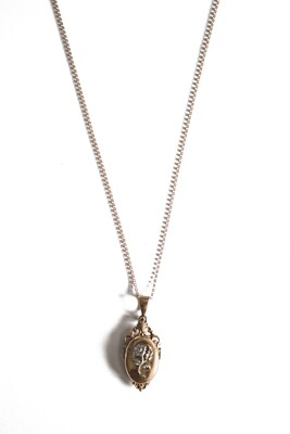 Circa 1915 French Belle Époque Vermeil Locket Pendant
