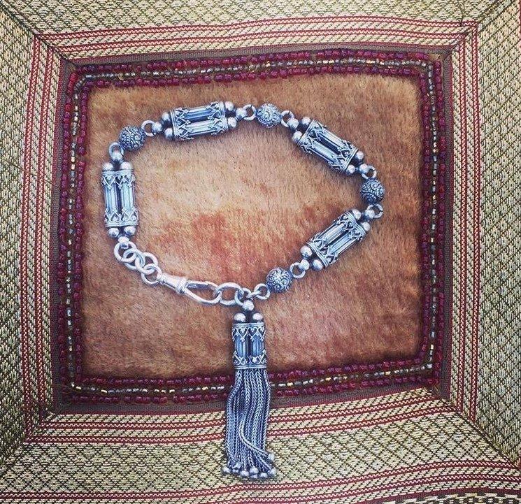 Circa 1915 Silver Albertina bracelet. 00013
