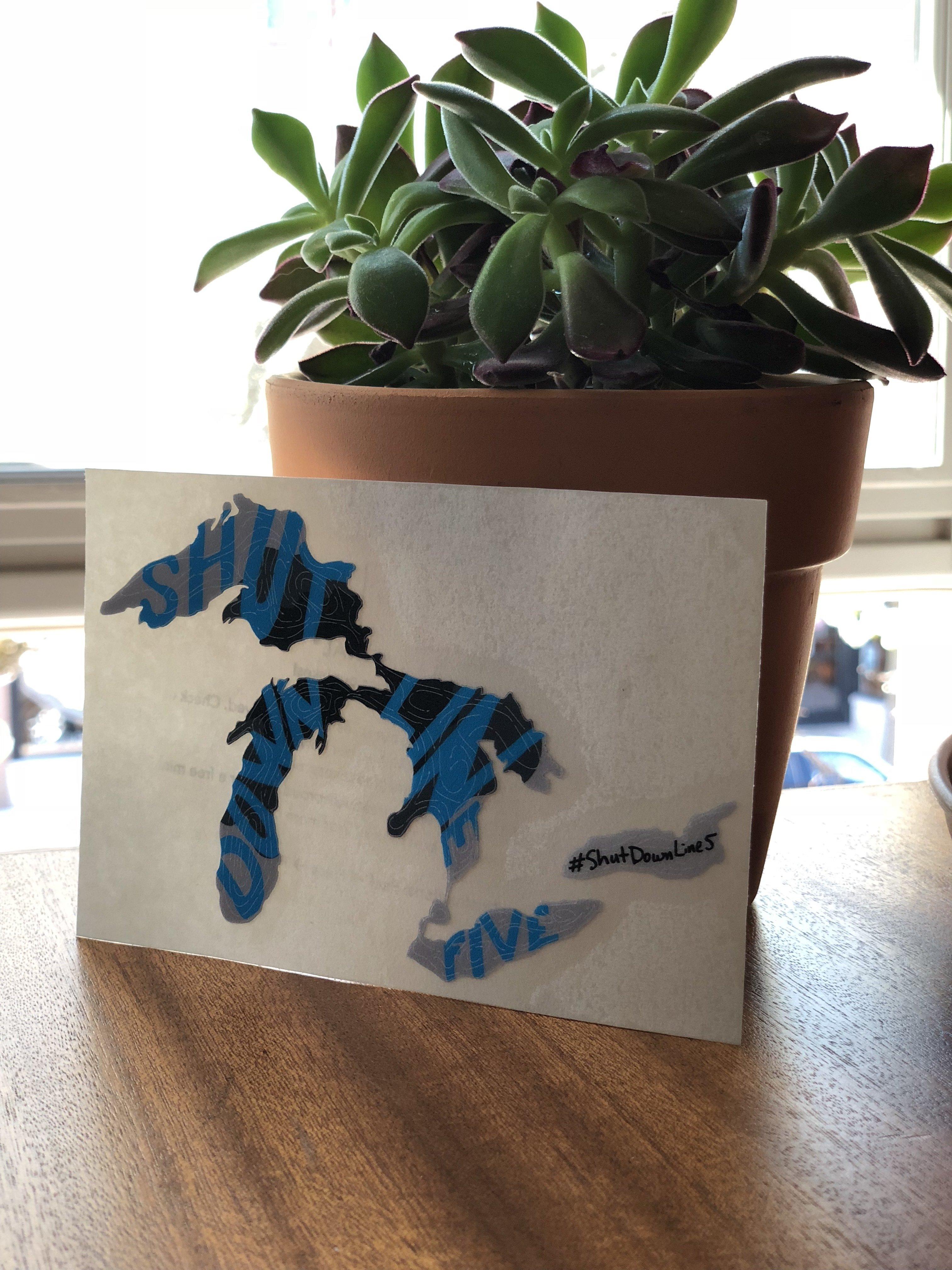 Great Lakes Proud - Shut Down Line 5 Sticker