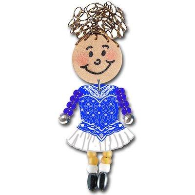 Irish Dancer - Blue, White