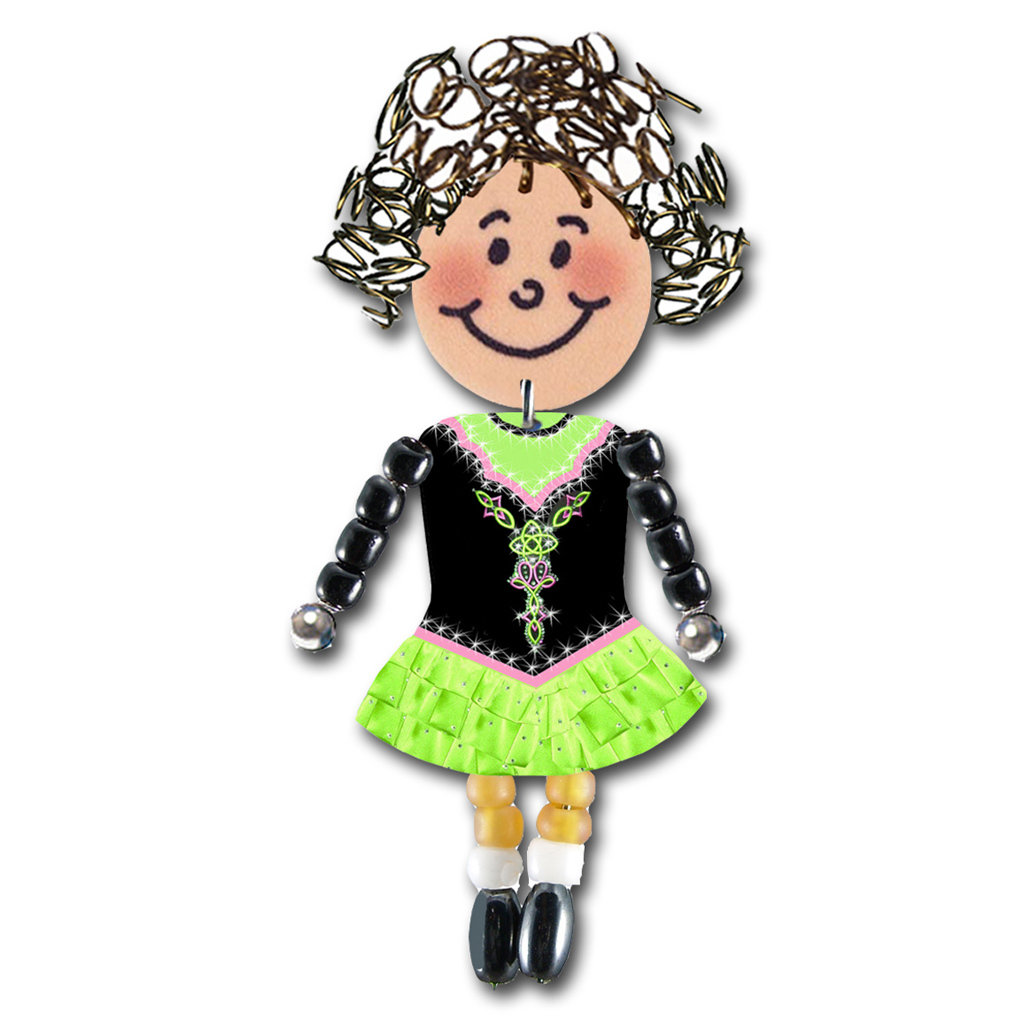 Irish Dancer - Lime, Black