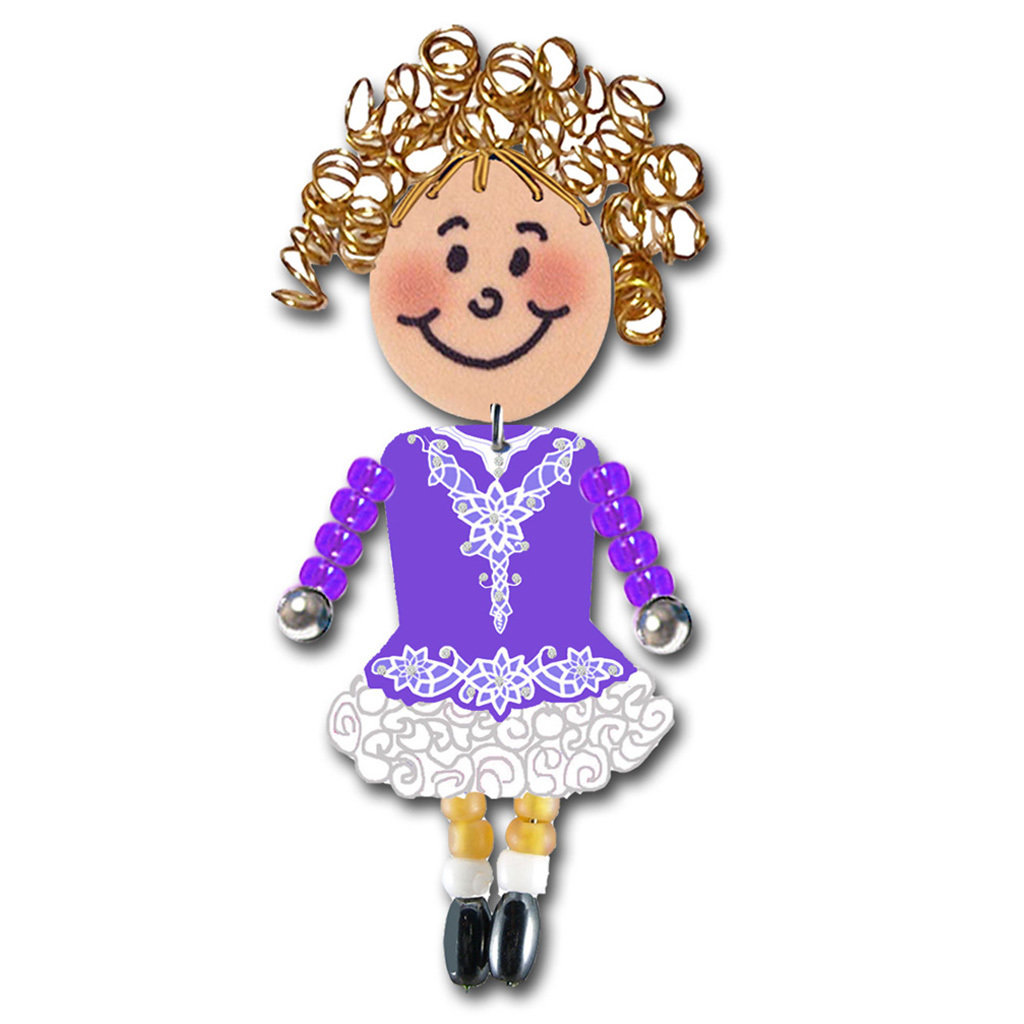 Irish Dancer - Purple, White