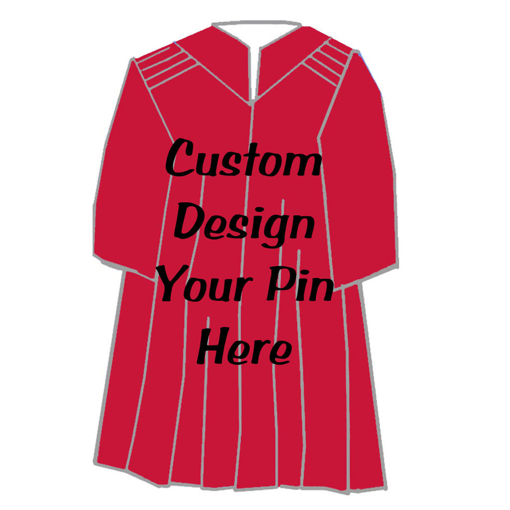 Design Your Graduate Girl Gown Pin