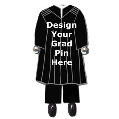 Design Your Graduate GUY Gown Pin