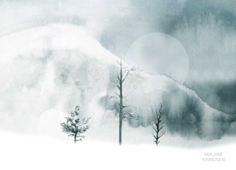 """Kaamos"" /""Polar Night"" A6 kortti"