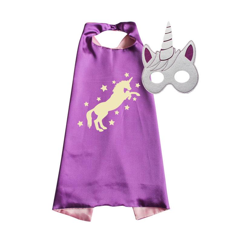 Unicorn Cape and Mask Set Purple 00025