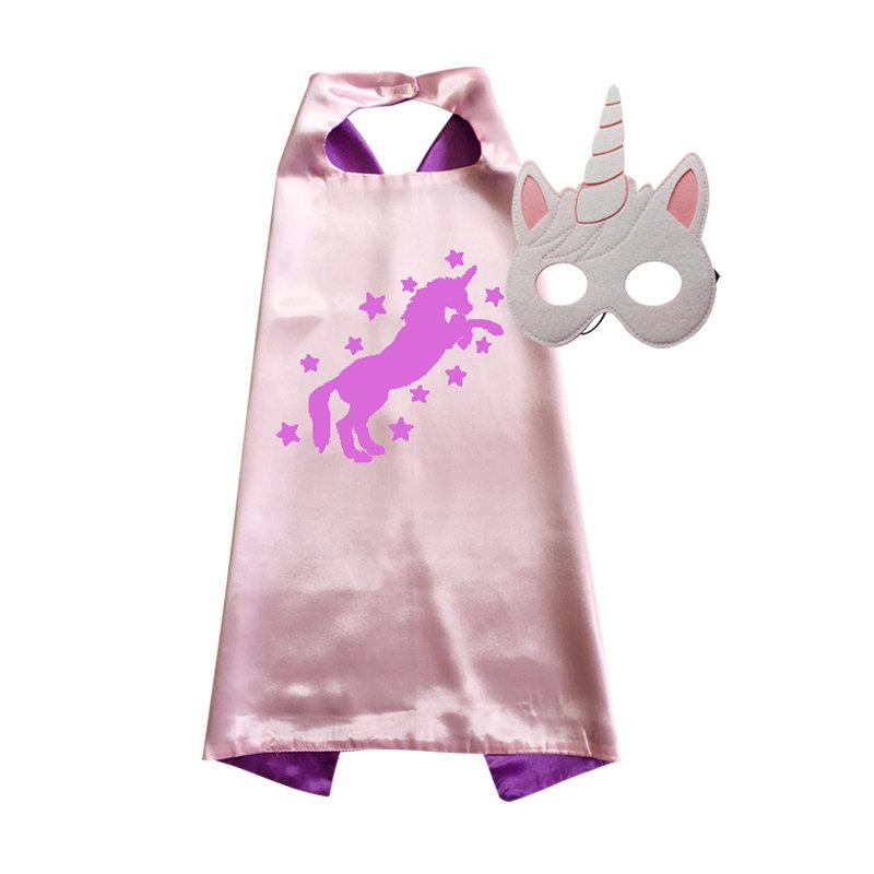 Unicorn Cape and Mask Set  Pink 00026