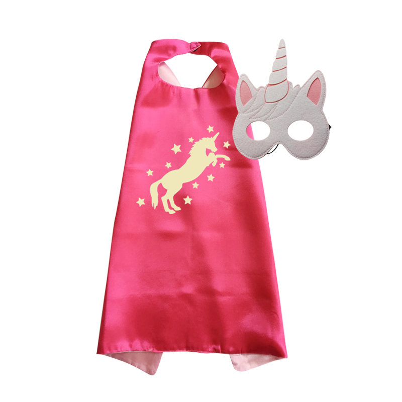 Unicorn Cape and Mask Set Fuschia 00028