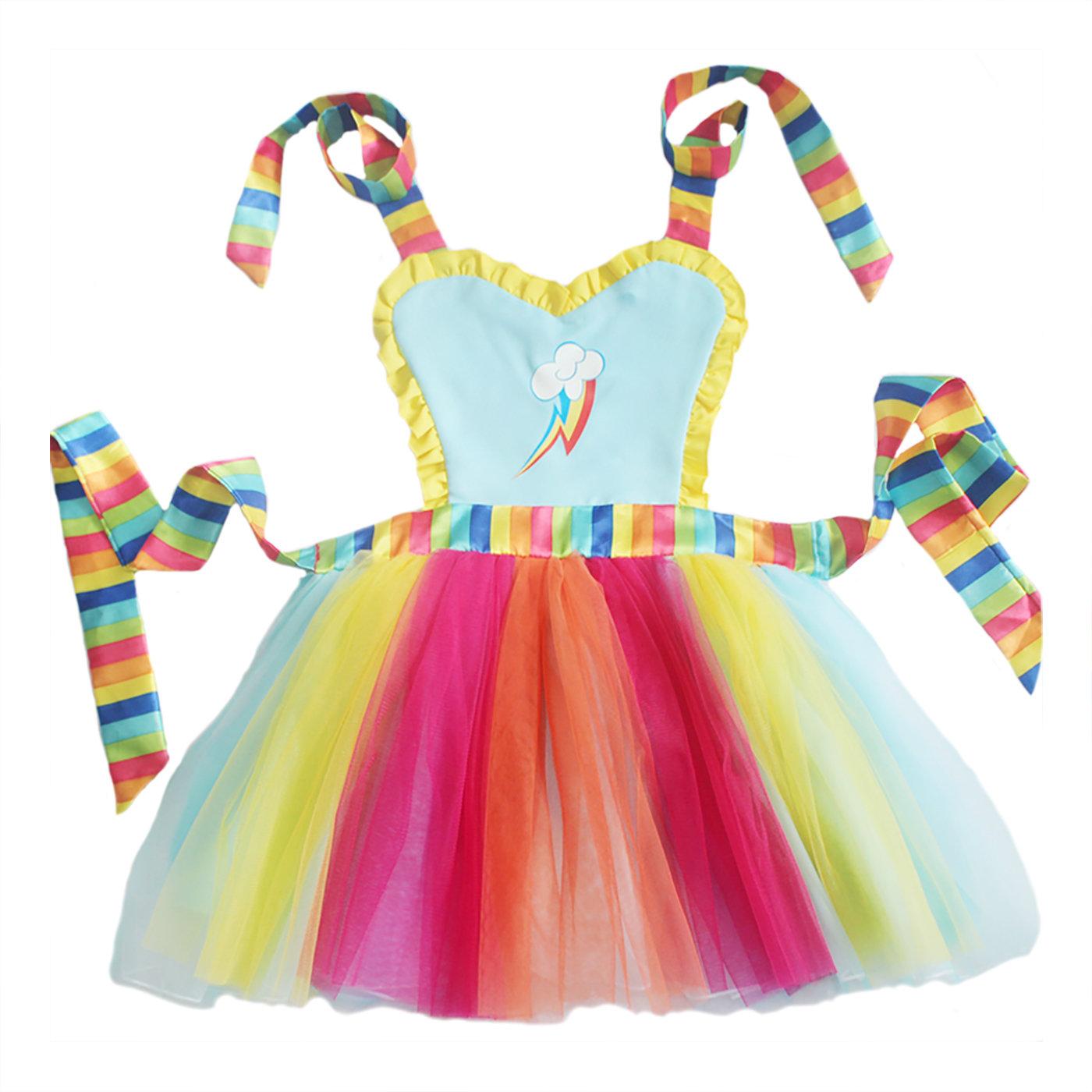 Rainbow Dash Tutu Apron Dress 00034